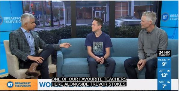 Trevor and Jonah on Breakfast Television